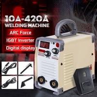 220V Mini Tig Inverter 10 420A Handheld Mini MMA DC Inverter Welding Machine With Clamp For Welding Working Welder Inverter Tool