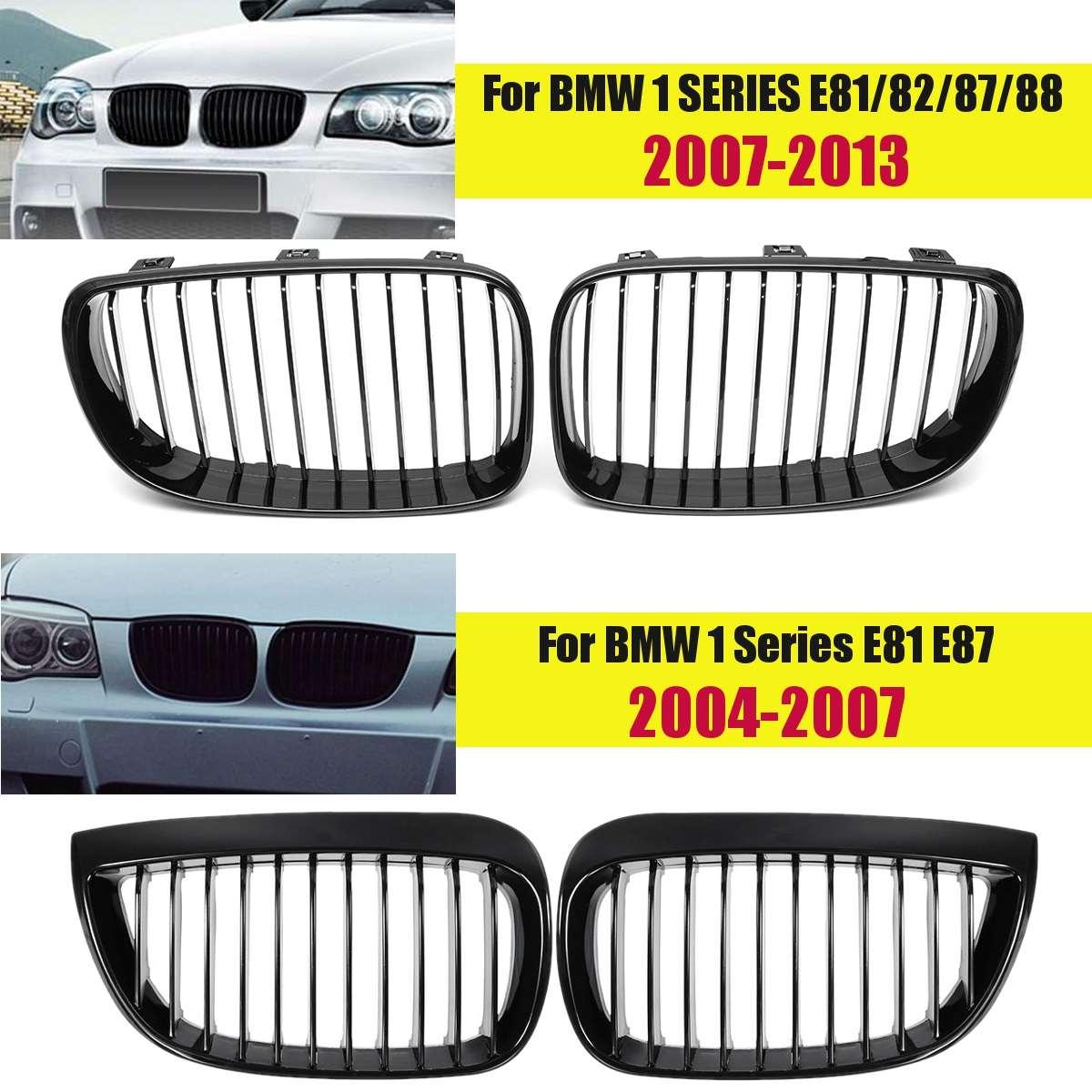 1 paire de Grilles avant noires brillantes | Pour BMW série 1 E81/E82/E87/E88 2007 2008 2009 2010 2011 2012 2013