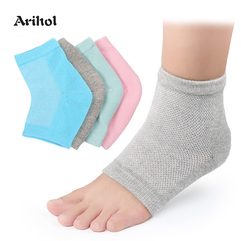 Moisturizing Heel Sock For Plantar Fasciitis Foot Spur Socks Silicone Sleeve Gel Socks For Dry Cracked Feet, Relief Foot Pain