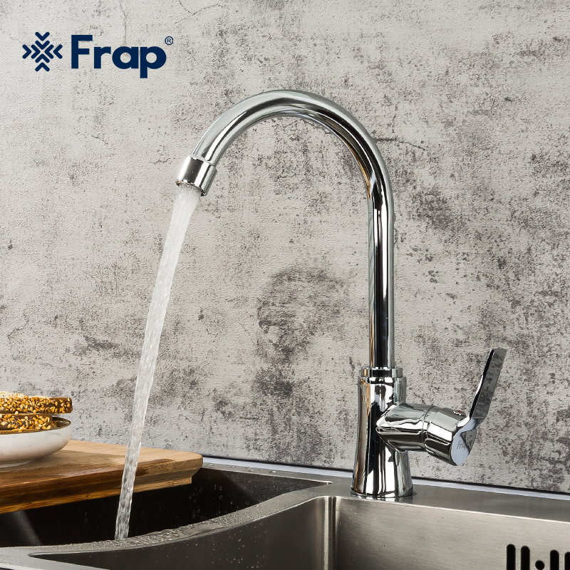 Frap Kitchen Faucet Brass Swivel Single-Hole Hot And Cold Solid F40563 360-Degree