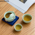 Новый стильный керамический чайный набор, удобный для путешествий чайный набор кунг-фу Dahongpao чайный горшок офисный бытовой набор для питья ...