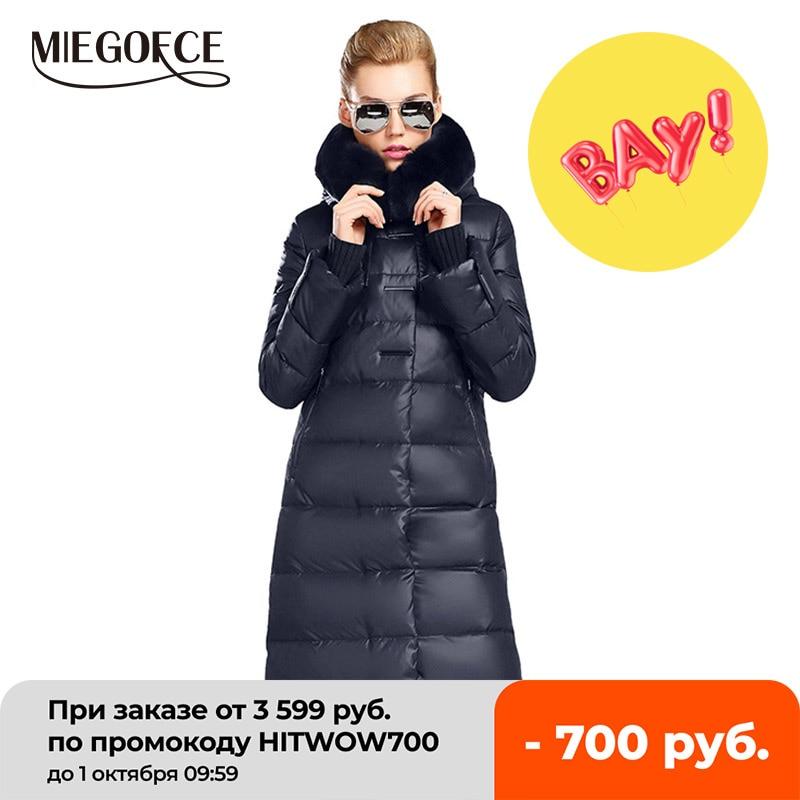 MIEGOFCE 2020 Women's Coat Jacket Medium Length Women Parka With a Rabbit Fur Winter Thick Coat Women New Winter Collection Hot|women parka|women coat jacketwomen coat - AliExpress