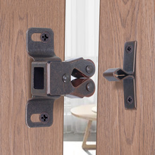 1PCS Prong Doors Latch Hardware Double Ball Roller Catches Cupboard Cabinet Tools Closer