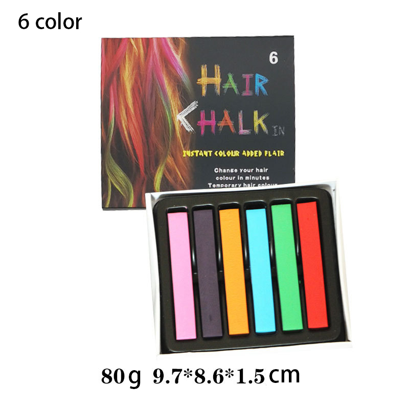 6/12 Color Temporary Hair Color Chalk Dye Colorful Hair Crayon DIY Styling Tools For Girls Kids Party Cosplay Creme 3