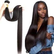 Бразильские прямые волосы Luvin 28, 30, 40 дюймов, 100% натуральный цвет, человеческие волосы без повреждения кутикулы, пряди для наращивания, пряди,...