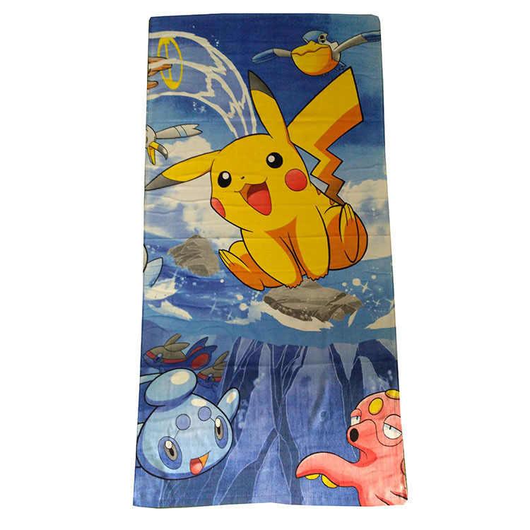 Pikachu mascota elfo Pokemon 100% de dibujos animados algodón Toalla de baño Toalla de playa 72X146 Cm