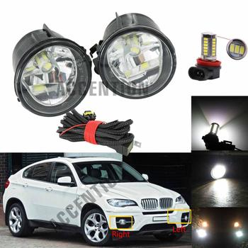 Car-styling Front LED Fog Lamp Fog Light With Bulb Wire LED Car Light For BMW X6 E71 E72 2012 2013 2014 2015 image