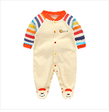 H8dcb2e722c55445b8a1f803c05a0edc96 Baby Girl Romper Newborn Sleepsuit Flower Baby Rompers 2019 Infant Baby Clothes Long Sleeve Newborn Jumpsuits Baby Boy Pajamas