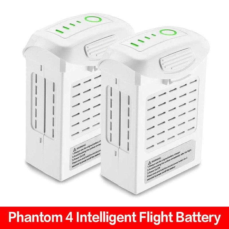 New 2 Pcs Phantom 4 Battery P4 Advanced 4 Pro Plus LiPo Intelligent Flight Battery 5350mAh/5870 High Capacity For DJI Phantom 4