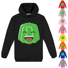 2020 New Shooting Game Autumn Jelly Green Hoodie Kids Hooded Sweatshirt Baby Boys Hooded T Shirts Girls Pullover Sweater Jumper