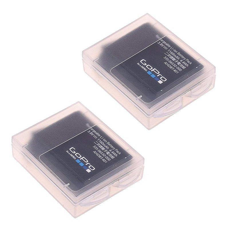 2 Pcs Waterproof Plastic Protective Storage Battery For GoPro Hero 8 7 6 5 4 Session Xiaomi Yi MiJia 4k Eken Camera Accessorie