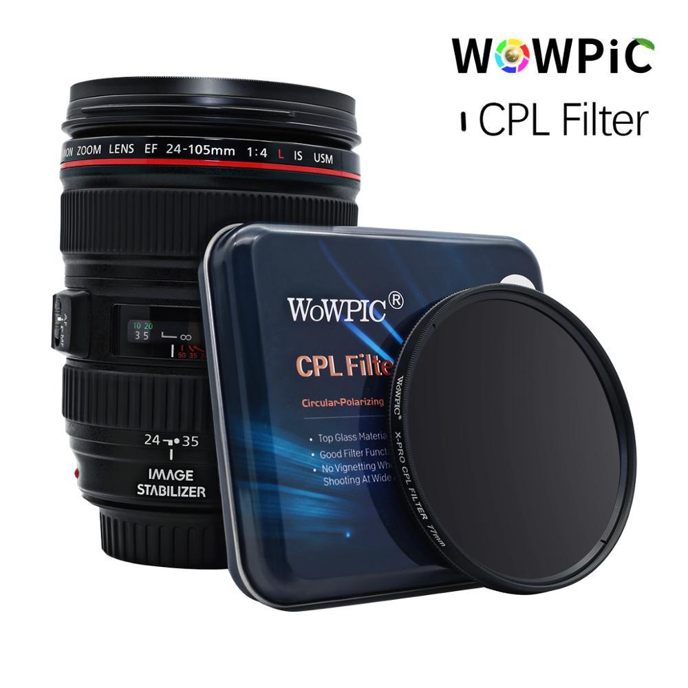 Filtre Polarisatie WOWPIC Filtre CPL 49 52mm 55 58mm 62 67 72 77mm 82mm objectif Filtre Photo pour Canon Nikon Sony Penter caméra reflex numérique