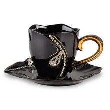 Персонализированные Роскошные подарки китай кофейная чашка набор Расширенный Диаманте чай керамические кружки парные чашки фарфор