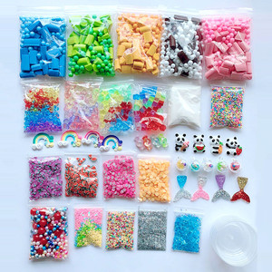 46pcs Slime Supplies Kit Foam Beads Sequins For Diy Slimecrystal Glue Making 2pc Funny 2020 Hot Sell#D35