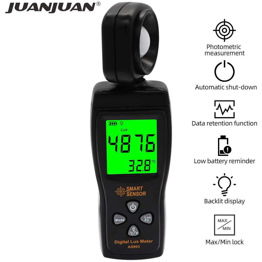 Digital Lux Meter 0.01-400000 Luminometer Photometer Temperaturmessgerät Tester