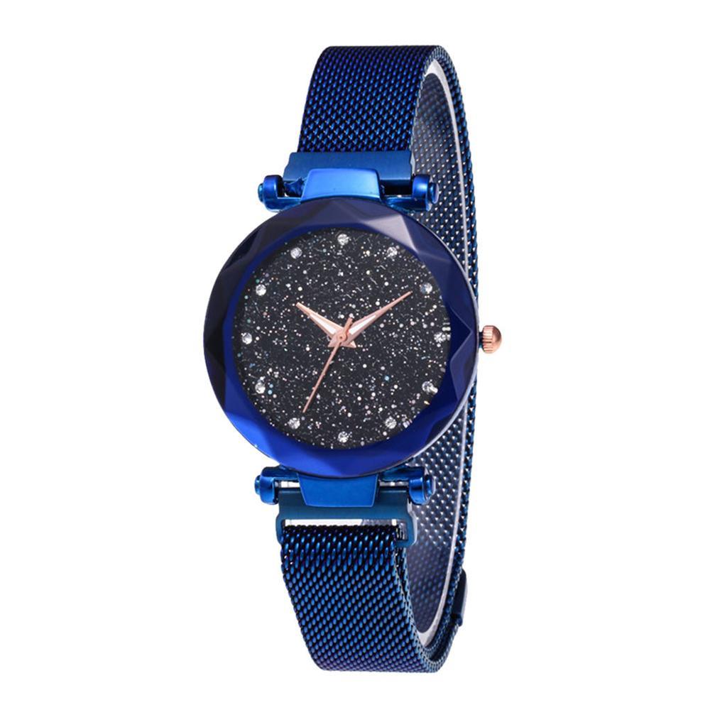 Fashion Watch Star Sky Watch Ladies Magnet Stone Milan Mesh Belt Women's Watch Ladies Watch Watch Women