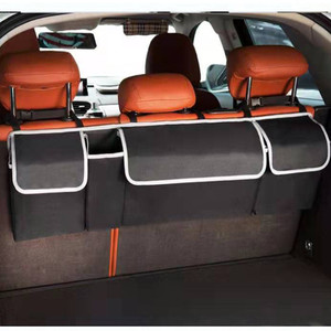 Image 3 - Adjustable Car Trunk Organizer Backseat Storage Bag High Capacity Multi use Oxford Car Seat Back Organizers Automobile Interior