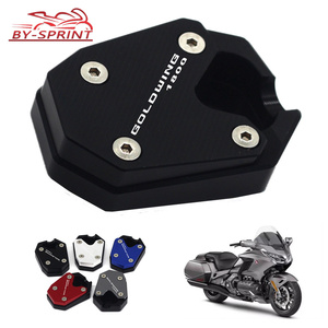 Laser Logo Motorcycle CNC Kickstand Side Stand Enlarge Extension For HONDA Goldwing 1800 GL 1800 GL1800 2018 2019 New Item(China)