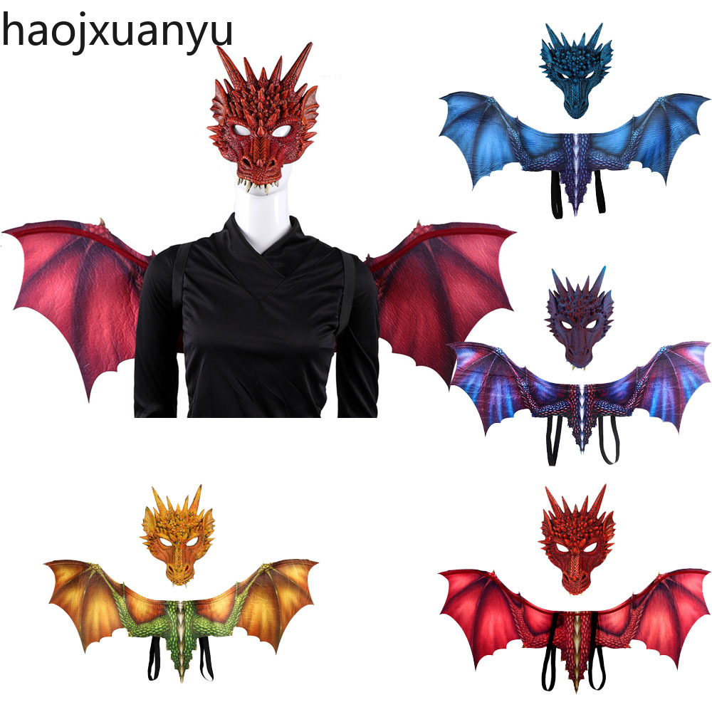 Halloween//Game of Thrones Dragon Mask Red Fancy Dress