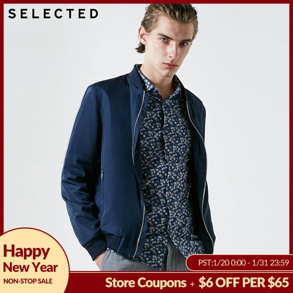SELECTED Men's Autumn Coat Pure Color Clothes Baseball Collar Jacket S   419121517