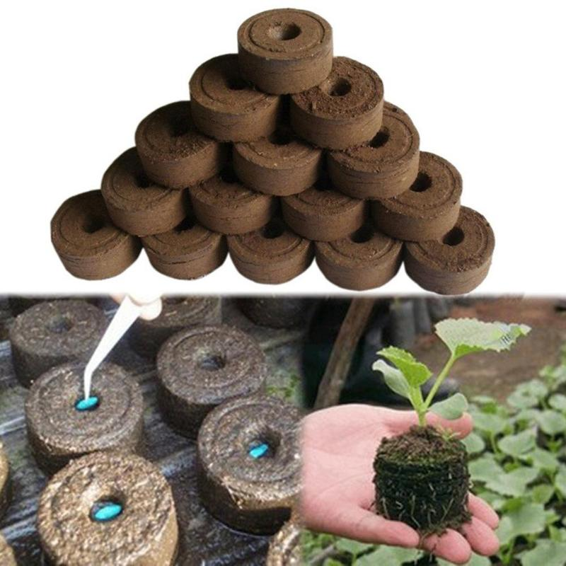 30mm Garden Flowers Planting The Soil Block Jiffy Peat Pellets Grain Starting Plugs Pallet Nutrient Soil Block POE Nursery Soil