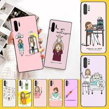 NBDRUICAI Spain Cartoon Medicine Doctor Nurse Matte  Phone Cover for Samsung Note 3 4 5 7 8 9 10 pro M10 20 30