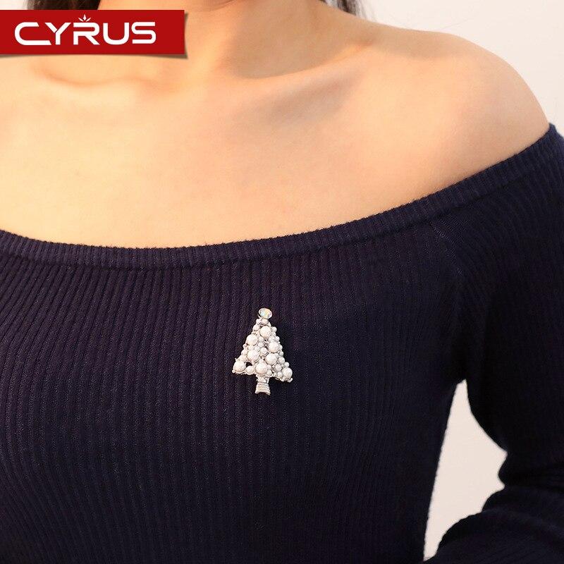 Broches de perlas de árbol de Navidad de moda Para Mujer accesorios de moda broche de lujo elegante joyería Boho de Mujer Regalos Para Mujer