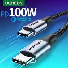 Ugreen usb c para usb tipo c para samsung s20 pd 100w 60w cabo para macbook ipad pro carga rápida 4.0 USB-C cabo de carga rápida usb rápido