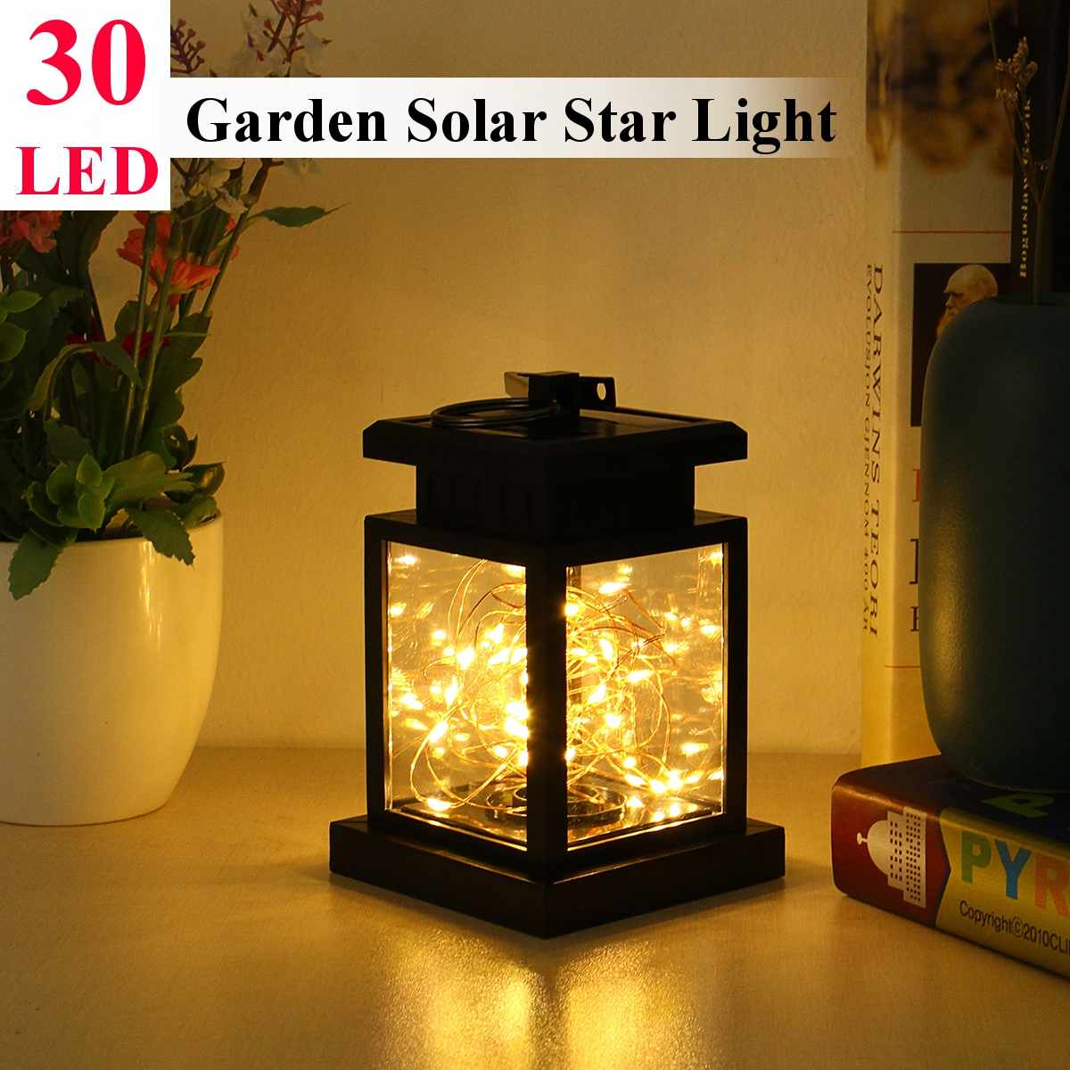30LED IP44 Waterproof LED Solar Power Garden Light Outdoor Lighting Hanging Solar For Camping String Lantern Decorative Romantic