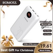 30000MAh 26800MAh ROMOSS SW30 Pro Di Động Ngân Hàng Điện Sạc Pin Ngoài PD Sạc Nhanh Màn Hình LED Hiển Thị Điện Thoại máy Tính Bảng