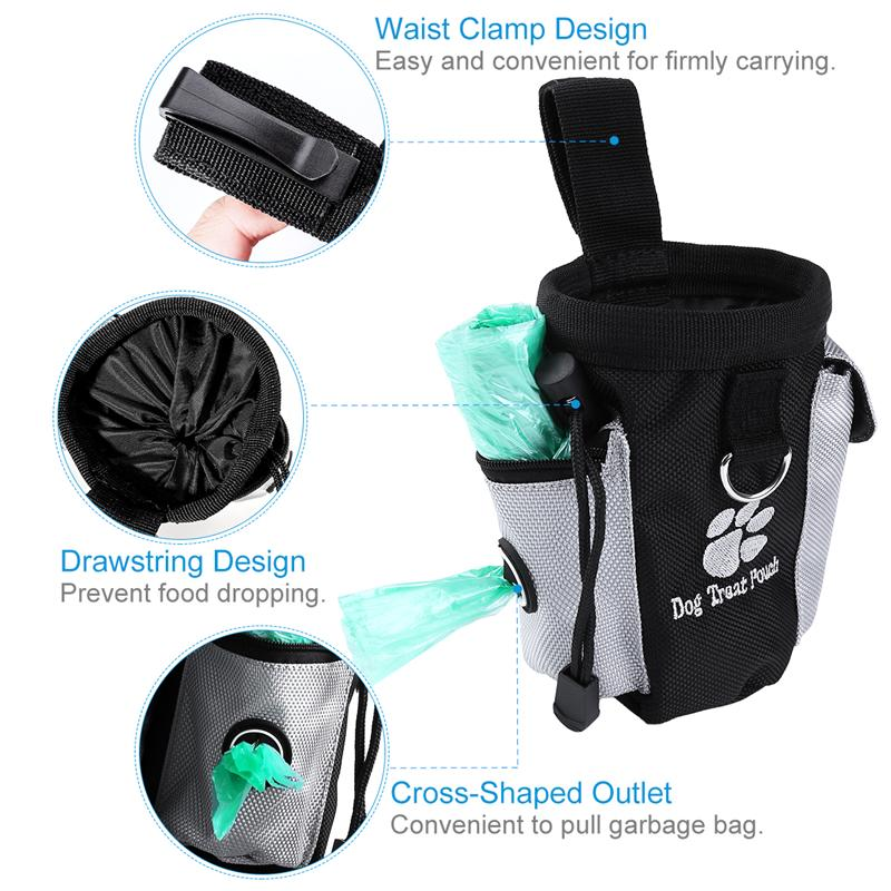 Dog Treat Pouch Pet Hands Free Training Waist Bag Drawstring Carries Pet Toys Dog Accessories Oxford Cloth Food Poop Bag Pouch 10