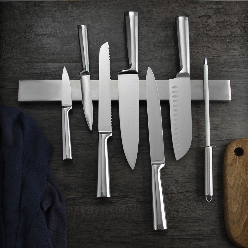 18inch 45cm Magnetic Knife Holder Lenght Magnet Wall Mount Knife Rack Stainless Steel 304 Magnet Knives Block Kitchen Knife Tool