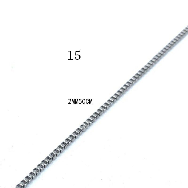 USENSET, звено, ожерелье s 304, цепи из нержавеющей стали, никогда не стираются, цветная бусина, коробка, киль, подвеска, ожерелье, ювелирные изделия, подарки - Окраска металла: 15