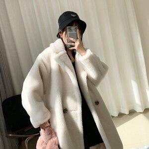 Image 3 - 2020 Winter Faux Fur Teddy Coat Women High Street Oversized Teddy Jackets And Coats Ladies Outwear Parka Warm Shaggy Coat
