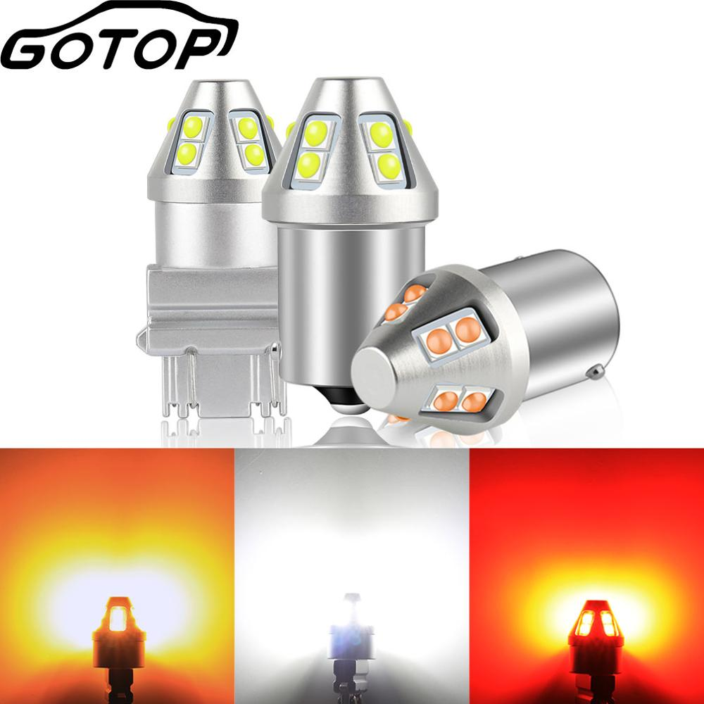1 шт. T20 1156 светодиодные лампы BA15S P21W BAU15S PY21W автомобилей указатели поворота BAY15D P21/5 Вт 7440 7443 10SMD 3030 чипы T25 3157 R5W R10W