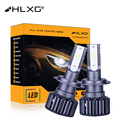 H7 светодиодны автомобильный светильник h4 HB3 HB4 головной светильник авто лампы 20000LM 12V Супер мощный турбо H8 H9 H11 H16JP 9005 9006 светодиодные лампы HLXG