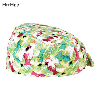 Wholesale prices Breathable Lab work frosted hat cotton printing scrubs hat Adjustable Scrub Cap laboratory cap beauty Scrub Cap lab series invigorating face scrub