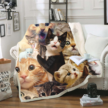 Taco Cat/Surprised Cats Fleece Blanket Plush 3d Printed for Adults Sofa Sherpa Fleece Bedspread Wrap Throw Blanket style-1