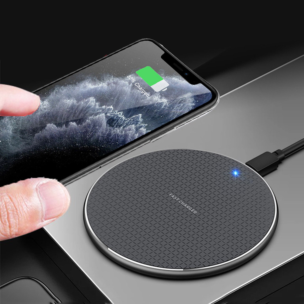 10W QI Wireless <font><b>Charger</b></font> Charging Induction USB <font><b>Charger</b></font> for iPhone 11 Pro Max for Samsung <font><b>Galaxy</b></font> S10/<font><b>S9</b></font> Plus Note10 8 Xiaomi mi9 image