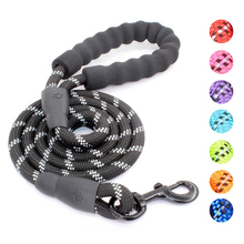 Dog Leash Padded-Handle Dogs-Rope Dog-Collar Strong Threads Reflective Large for Medium