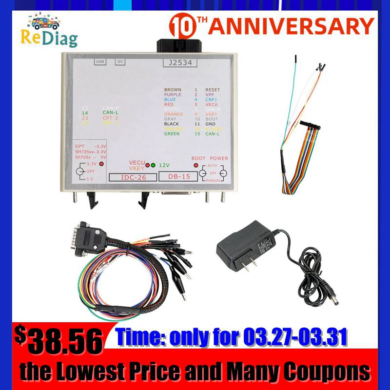 2020 Newest KTM Power Box For KTM JTAG Works For KTM ECU To J2534 Device Box KTM FLASH Free Shipping