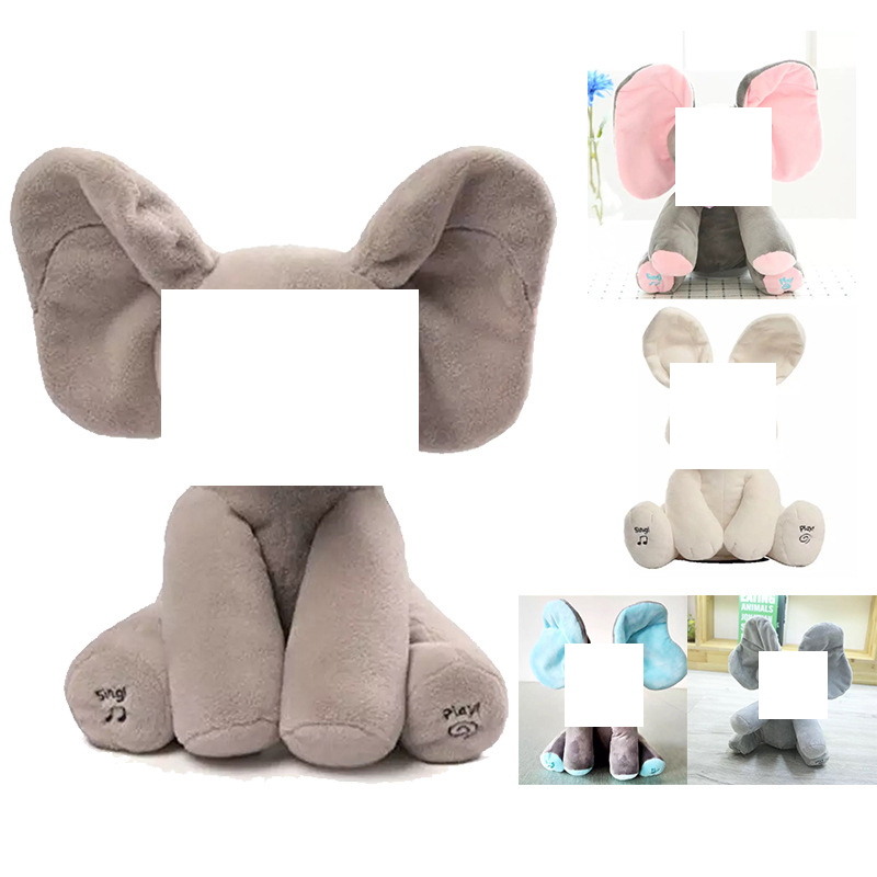 Toy Music-Doll Boo Peek Stuffed Animals Plush Interactive Elephant Electric Rabbit Baby