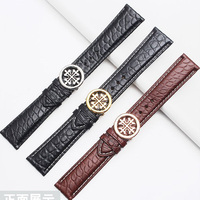 Fit patek phillippe crocodile leather watch strap with PP folding buckle19mm20mm21mm22mm