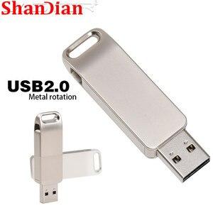 USB флеш-накопитель 32 ГБ вращающийся металлический водонепроницаемый флеш-накопитель 64 Гб мини Флешка мини флеш-накопитель карта памяти 16 Гб