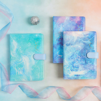 Zodiac Story Faux Leather Soft Cover Cute Diary Journal Blank Papers Notebook Notepad Beautiful Girls Planner Agenda rabbit nina faux leather cover journal diary cute notebook notepad girls planner stationery gift