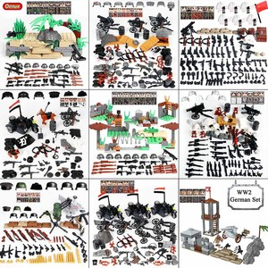 Oenux WW2 Series Mini German Army Soldiers Figures Small Building Block World War 2 Military Block Brick MOC Toy Kids Xmas Gift(China)