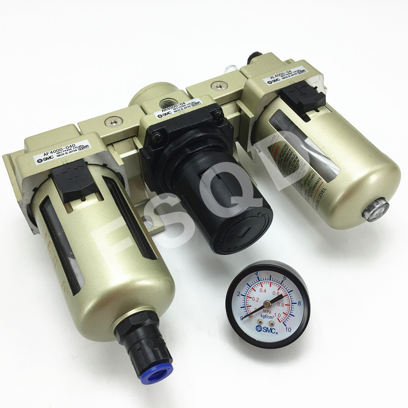 AC4000 04D SMC FRL air source processor automatically  water drainage AC series pneumatic component air tools-in Pneumatic Parts from Home Improvement    3