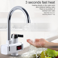 3000W Electric Water Heater Kitchen Instant Heater Fast Cold Hot Didital Display Tankless faucet for Kitchen and Bathroom