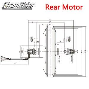 Image 4 - 48V 500W Direct Drive Gearless Hub Motor E bike Motor Front Motor Rear Cassette Motor Optional MXUS Brand XF39 XF40 freehub