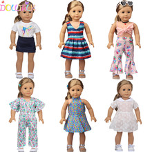 43cm Reborn New Born Doll Spring Summer Clothes Dress Butterfly Skirt For 18 Inch American&OG Girl Doll Russia DIY Gift`s Toy